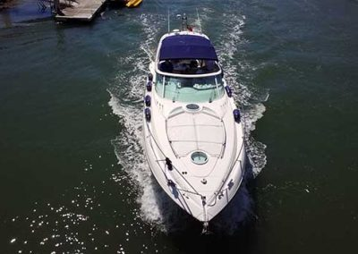 Fairline Targa 43 entering Lagos Marina 5